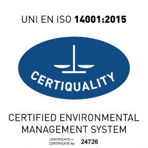 Iso 14001-2015 Certificato n° 24726-Logo Bis
