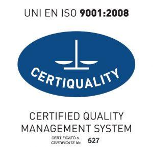 Iso 9001-2008 Certificato n° 527 Logo